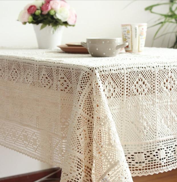 País americano ganchillo Encaje Manteles algodón sofá cubierta de ...