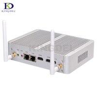 ビッグプロモーションファンレスデスクトップコンピュータintel celeron n3050デュアルコアデュアルhdmi wifiデュアルlanミニpc htpcネットトップpc 2メートルキャッシュnuc