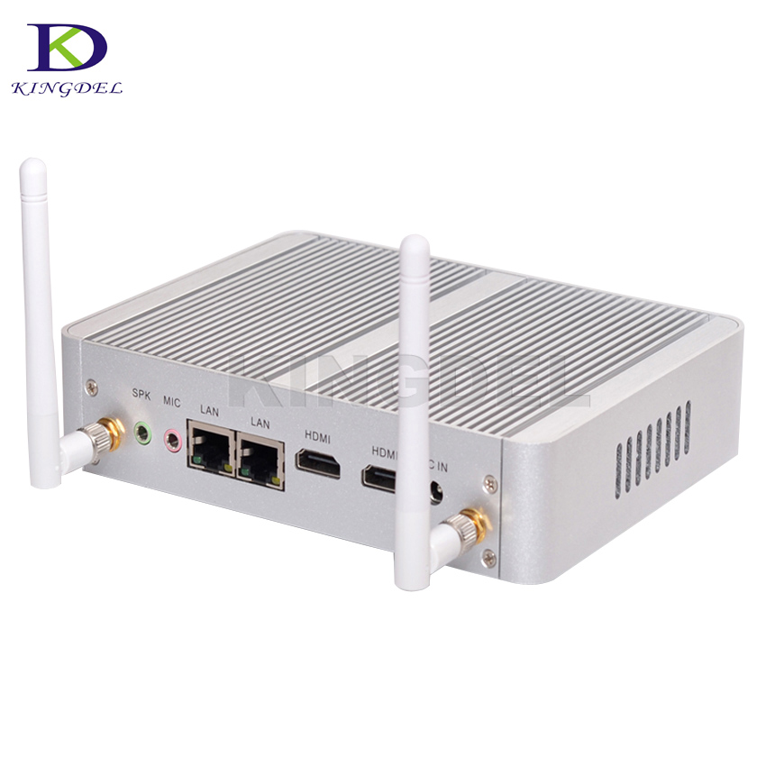 Big Promotion Fanless desktop computer Intel Celeron N3050 Dual Core Dual HDMI WiFi Dual LAN Mini PC HTPC Nettop PC 2M Cache Nuc xcy mini pc j1900 dual lan industrial computer celeron quad core 2 0ghz fanless business computer with 4 usb port 2 rs232