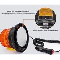 New 12V 7.5W LED Warning Light Forklift Traffic Engineering For Car Strobe Light Magnetic Ceiling Lamp