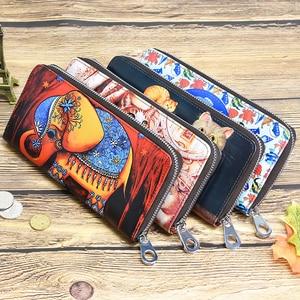 Image 5 - DICIHAYA carteras largas de piel con estampado para mujer, monedero, monedero, bolsos de estudiantes, billetera con sostenedor de tarjetas