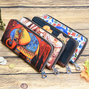 Image 5 - Dicihaya mulheres longas carteiras de impressão bolsa de moedas de couro senhora moneybags meninas estudantes bolsas embreagem carteira cartões titular sacos