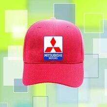 9f26a06350f Men Women Snapback Adjustable Hip-hop Unisex Golf Baseball Cap Mitsubishi  Logo Hat Canvas(
