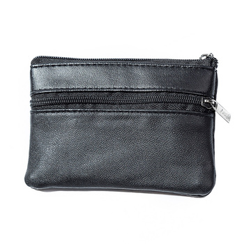Solid Wallet Zipper Key Coin Purse Bag Card Holder Gift Men Women Pouch Pocket Money Soft Artificial Leather