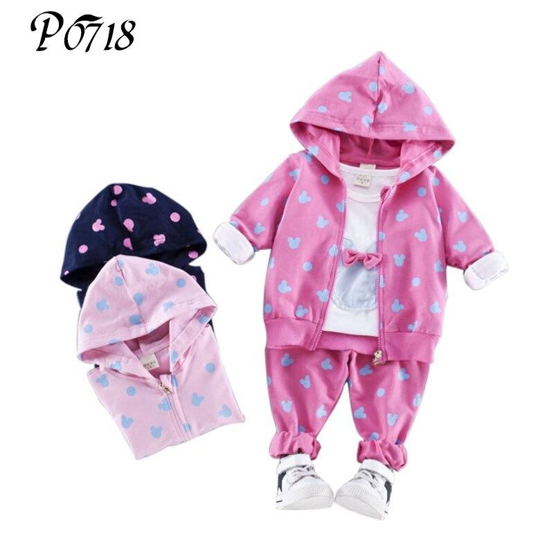2017 Autumn Baby Girl Kids Long t-shirt + Coat + Pants 3 Pcs Suit Girls School Sport Clothing Sets Children Cotton Tracksuits klein кофеварка electrolux