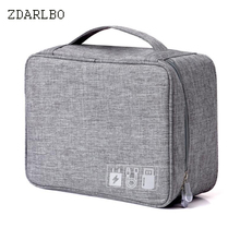 Digital Travel Bag Cationic Polyester Data Cable Storage Bag Multi-function Electronic Accessories Organizer Pouch reistas