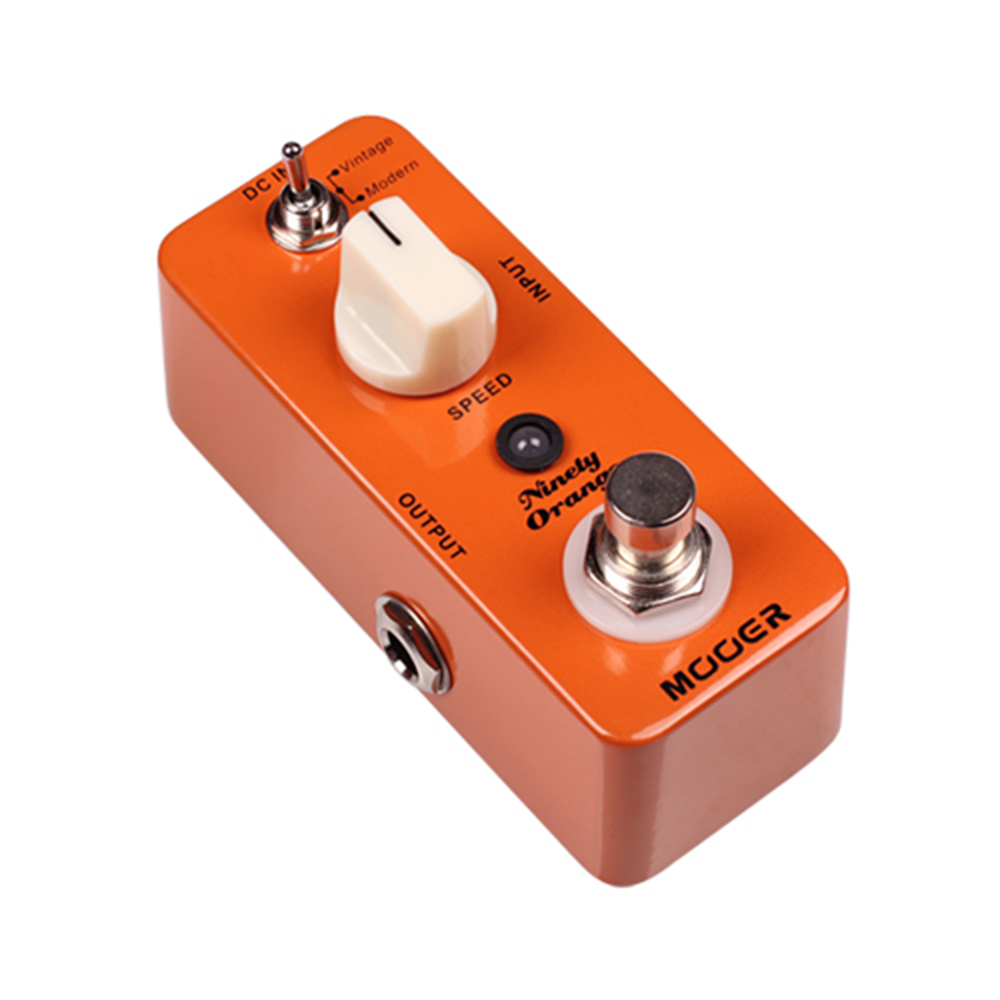 Mooer Ninety Orange Effect Pedal True Bypass Micro Mini Vintage/Modern Analog Phasing Tone Effect Pedal MPH1 new effect pedal mooer solo distortion pedal full metal shell true bypass