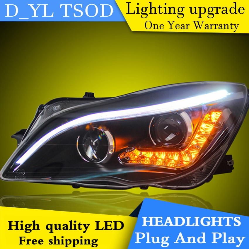 Car Styling Headlights for Regal 2014 LED Headlight for Regal Head Lamp LED Daytime Running Light