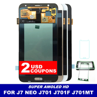 LCDs For Samsung Galaxy J7 neo J701 J701F J701M J701MT AMOLED Phone LCD Screen Display With Touch Digitizer