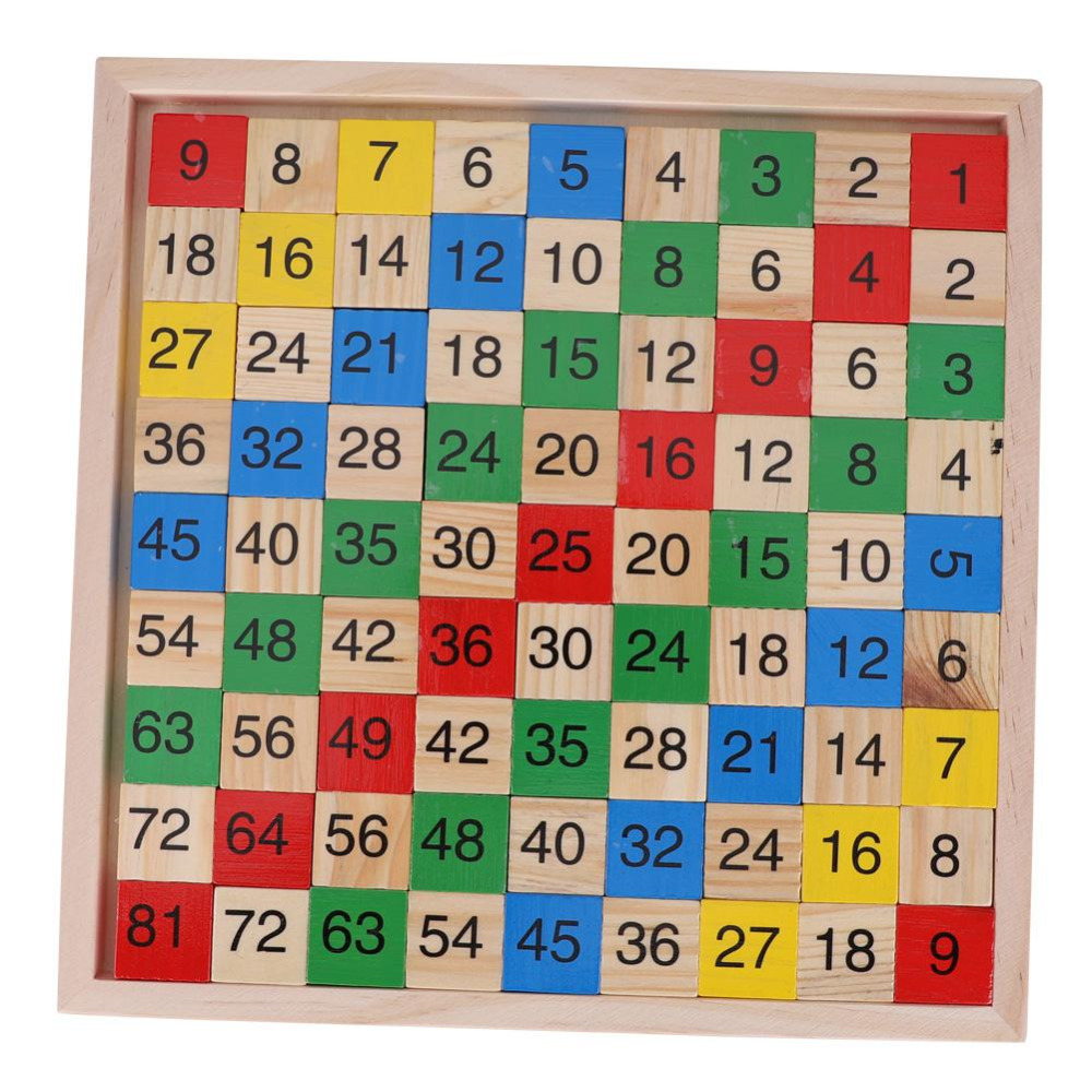 Math Toy Wooden Double Side Multiplication Table Children Educational Toys 2018 Montessori Wooden Math Board Learning Block Toy