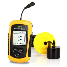 Buy LUCKY FF1108-1 Cable Wired Fish Finder Sonar Sounder Alarm Transducer 0.7-100m Dot Matrix Portable Fishfinders Fishing Tools