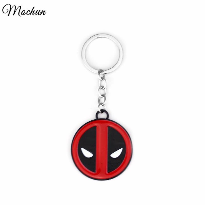 MQCHUN Anime Catoon Deadpool Metal Keychain Pendant Key Chain Chaveiro Gifts For Fashionable Men And Women Movie Jewelry