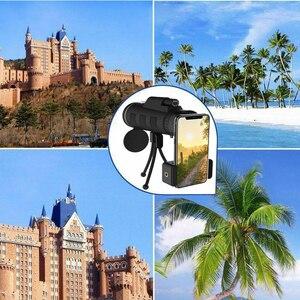 Image 2 - 40x60 hd 줌 단안 쌍안경 야외 여행 트레킹 카메라 전화 렌즈에 사용할 수 있습니다 아이폰 화웨이에 대한 hd 단안