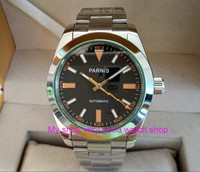 Free Shipping 40mm Parnis Sapphire Glass Men S Watches Japanese Automatic Movement Watch High Quality 2017