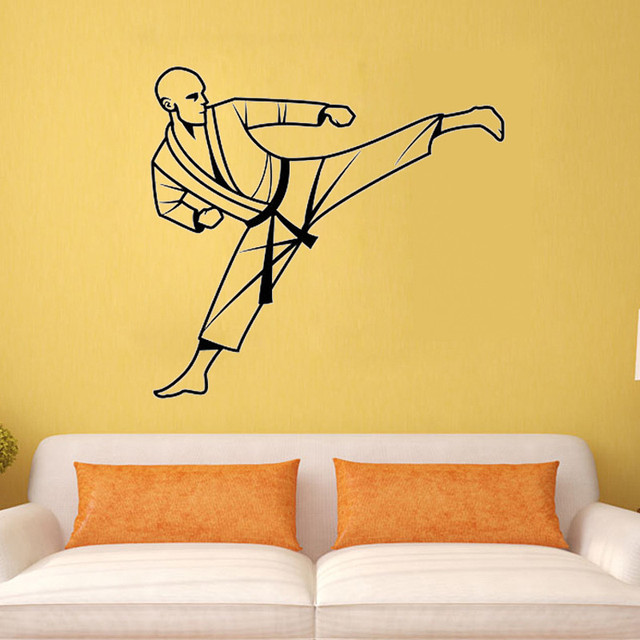 Karate Wall Decal Vinyl Sticker Art Decor Bedroom Design Mural Martial Arts Home Room Decoration