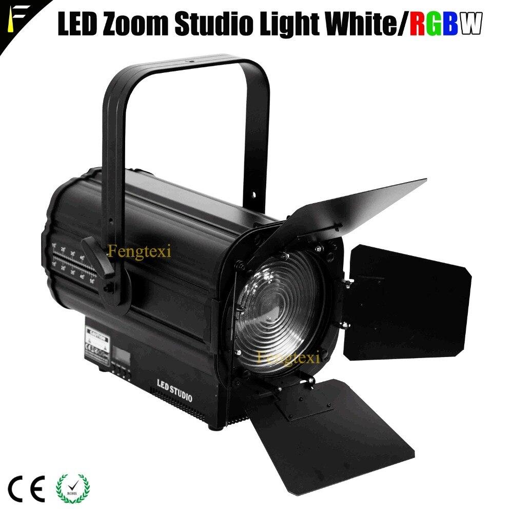 все цены на RGBW Warm/Cold White 3200K/6500k Fresnel Len citizenLED COB 200w Theater Spotlight DMX LED 200W Studio TV Light Spot онлайн