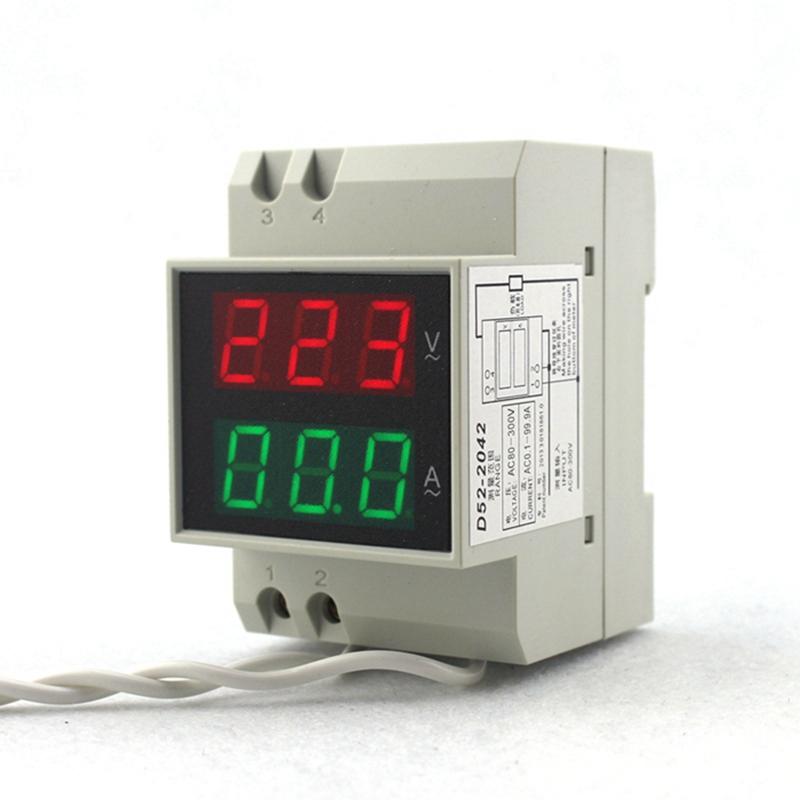 DIN bėgių kintamosios srovės 80–300 V kintama 200–450 V - Matavimo prietaisai - Nuotrauka 2
