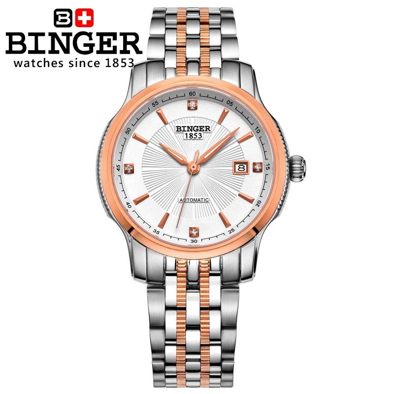 Szwajcaria BINGER zegarki mężczyźni luksusowa marka Mechanizm - Męskie zegarki - Zdjęcie 3