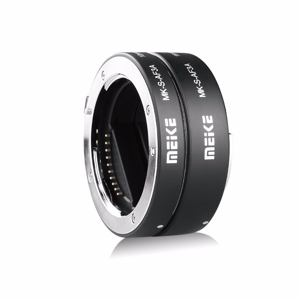MEKE Meike MK-S-AF3A Metal AF Macro Extension Tube Auto Focus Adapter ring 10mm 16mm for Sony Mirrorless A7 NEX E-Mount Camera