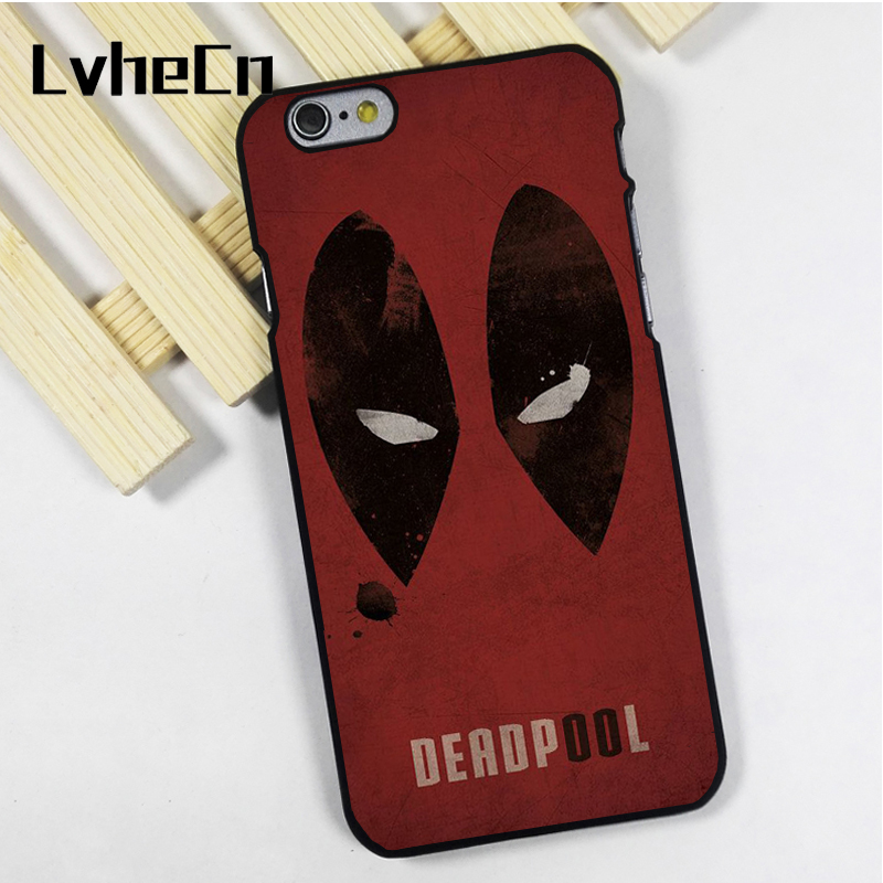 LvheCn phone case cover fit for iPhone 4 4s 5 5s 5c SE 6 6s 7 8 plus X ipod touch 4 5 6 Eyes Deadpool Superhero Marvel