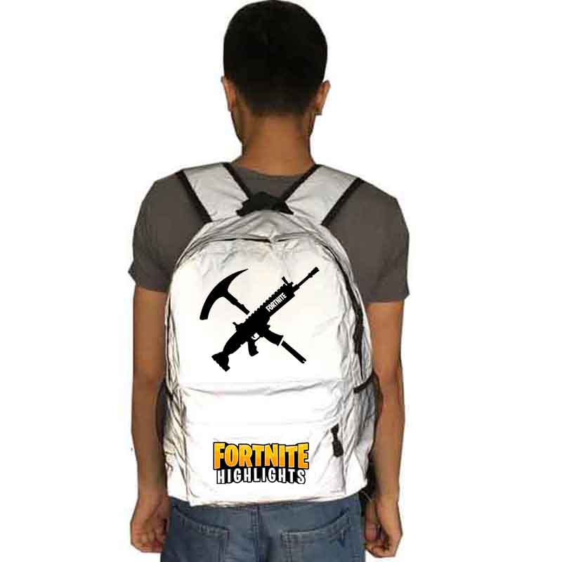 Fortnite backpack Reflective school bag Notebook backpack Leisure Daily backpack ...