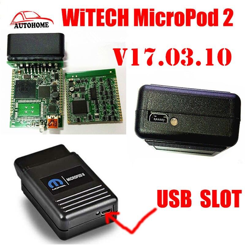 Цена за MicroPod 2 V16.04.12 V17.03.10 Для Chrysler WITECH Поддержка Нескольких Языков Chrysler последние диагностический инструмент с самым лучшим качеством