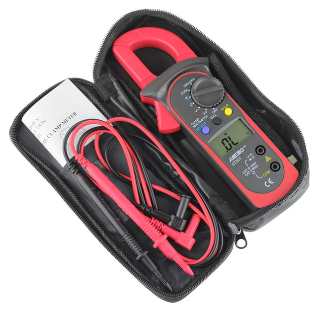 LCD Digital Clamp Multimeter OHM Amp Volt Meter AC/DC Current Resistance Tester