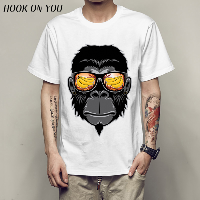 Plus Size T shirt Cool Gorilla t-shirt Men Short shirt Casual Fitness fashion animal banana