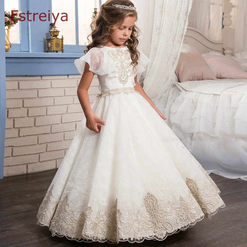 Baby girls party princess dress girls summer floral elsa dress princess costume for kids children wedding dresses for girl 2018 baby girls striped dress for girls formal wedding party dresses kids princess children girls clothing