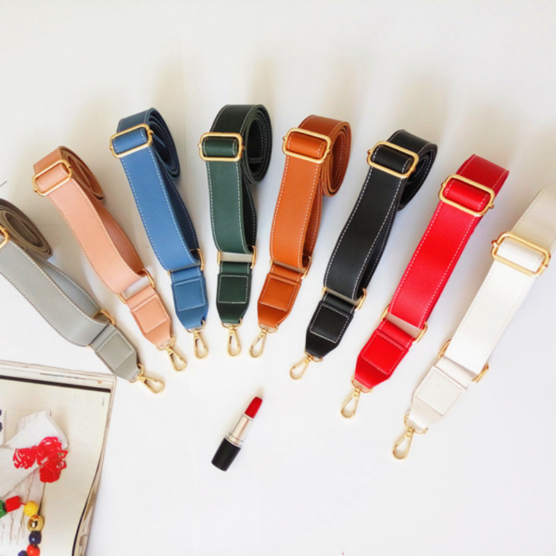 130cm Shoulder Bag Strap PU Leather Belt Adjustable Wide Strap Bag Accessories For Women Crossbody Handbag Replacement TAN in Bag Parts Accessories from Luggage Bags