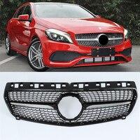 Гоночный Автомобиль решетка для Mercedes Benz класс W176 A45 180 200 260 2013 2018 радиатор сетки спереди капюшон бампер изменить DRL