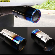 Stainless Steel Tail Exhaust Muffler Tip Pipe For Toyota  Land Cruiser Prado LC120 LC150 2003-2017 Car Styling Accessories