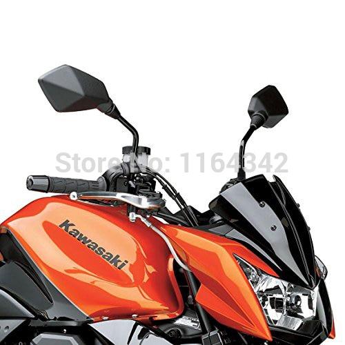 1 Pair Black Custom Aluminum Motorcycle Moto Mirror Rearview Side Mirrors For Kawasaki Z750 Honda Yamaha ATV Free Shipping In Accessories