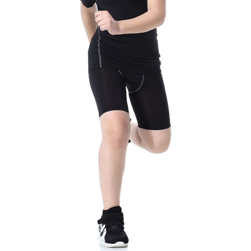 Newly Kids Sportswear Tight Quick Dry Breathable Elastic Sports Shorts for Boys Girls BFE88
