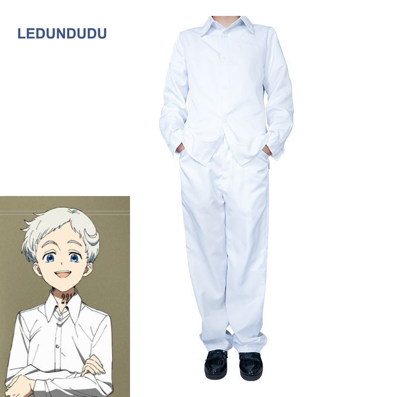 Hot Anime The Promised Neverland Norman Cosplay Costumes Men Ray Uniform set Tops + Pants For Halloween Party