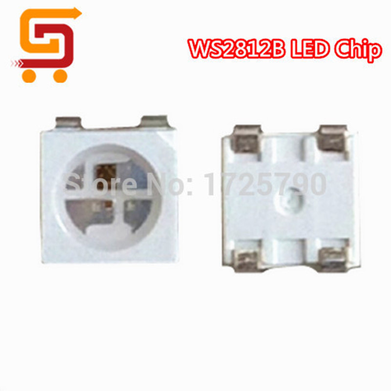 100pcs WS2812B ws2812 5050 SMD Individually Addressable Digital RGB LED Chip 5V