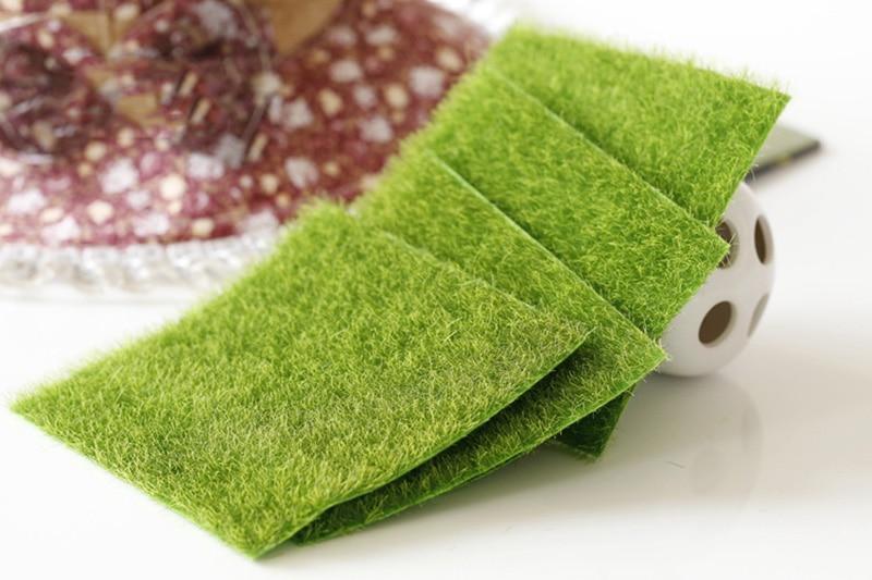 Flone Artificial PVC Grass Lawn False Moss Fake Turf Micro Landscape Decoration Accessories Home Living Room Decoration (2)