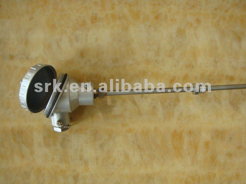 Промышленные Термопары с SS321 оболочка, аллюминевых термопары голову, диаметр 6 мм length350mm