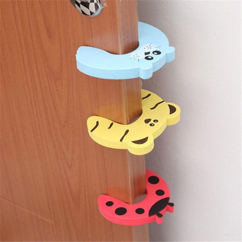 Для маленьких детей с рисунками животных Костюмы утягивающие Стоп Дверь Фиксаторы держатель палец Защитите Guard