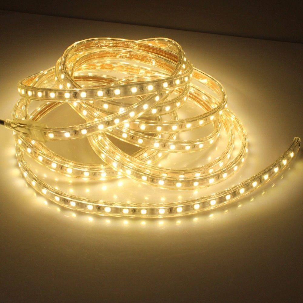 1 M/2 M/3 M/5 M/6 M/8 M/10 M/15 M/20 M SMD 5050 AC220V bande de LED lumière Flexible 60 LED s/m bande de LED étanche lumière LED