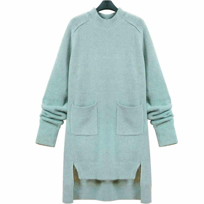 de Corea nueva primavera de la mujer suéter largo suéter de lana de primavera d