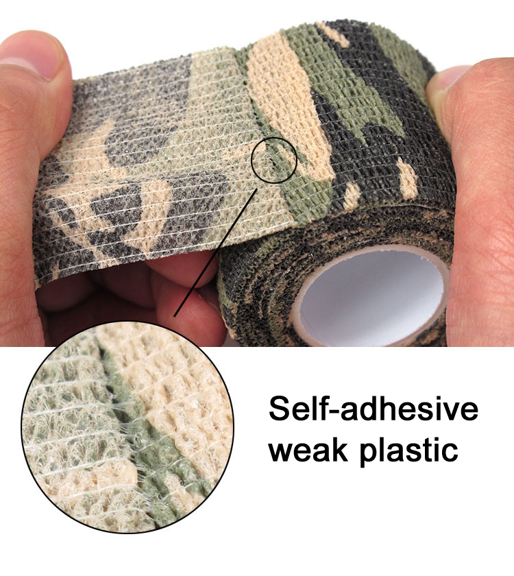 Airsoft paintball Self-adhesive Camouflage Wrap Rifle Hunting Shooting Cycling Tape Waterproof Camo Stealth Non-woven Tape