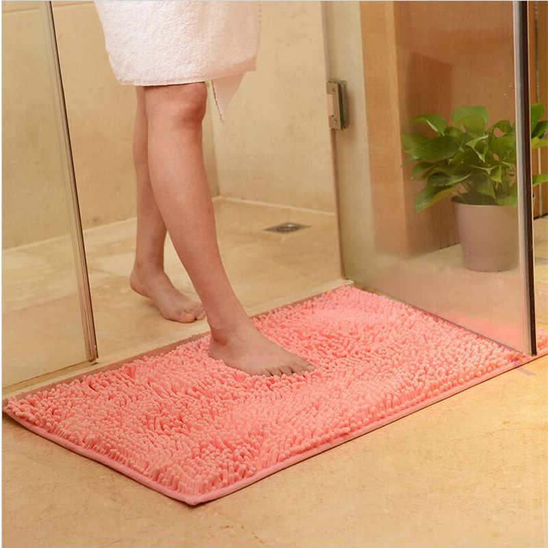Tapete macio tapete antiderrapante absorção de água tapete de cozinha tapete de porta tapete de banheiro corredor varanda capacho 60x40cm