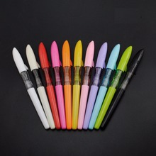 цена Jinhao shark fountain pen Colorful body 0.5mm metal tip pens for student writing Stationery items Office School supplies F739 онлайн в 2017 году