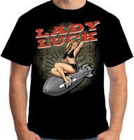 La diosa Fortuna WW2 Camiseta hombres Nariz Cono 40's Pin Up Rockabilly impreso manga corta camiseta tamaño EE.UU. S-3XL