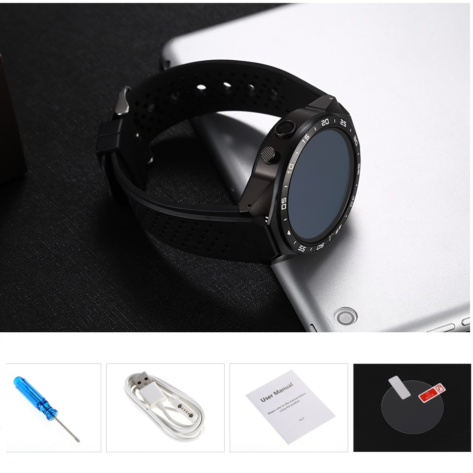 696 KW88 Smart Watch Android 5 1 1 39'' Screen 3G Smartwatch Phone MTK6580  512MB 4GB GPS Pedometer Smart Watch for android phone