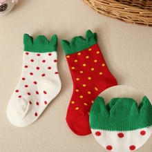 High quality! 3 pairs / autumn new comfortable, breathable cotton socks for children 0-2 years old baby socks girl socks