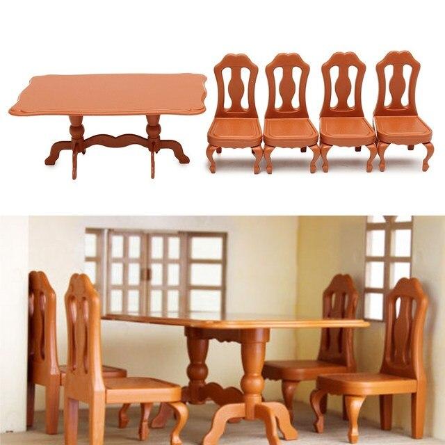 DIY Miniatura Möbel Esstische Stühle Sets Für Mini Puppenhaus Miniaturen  Möbel Spielzeug Geschenke Für Kinder Erwachsene
