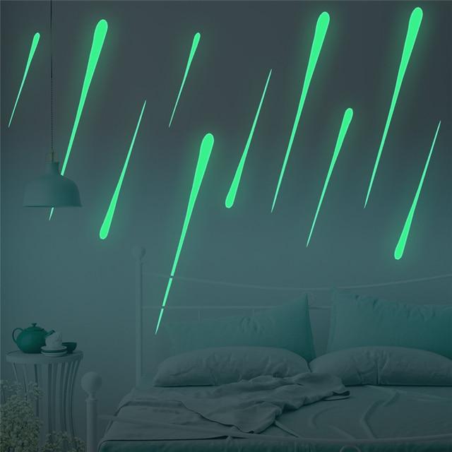 Luminous Removable Charming Meteor DIY Decke Sticker Fluoreszierend  Wandbild Papier Hintergrund Dekorationen Für Kronleuchter Wohnzimmer