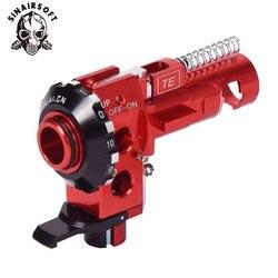 Caliente AEG de alta precisión táctica PRO CNC aluminio rojo Hop a cámara para M4 M16 serie Airsoft caza accesorios envío gratis